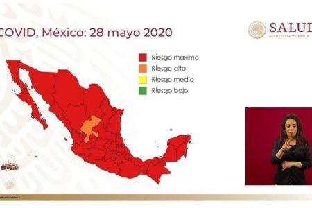 Semáforo nacional confirma que Yucatán está en rojo por Covid-19