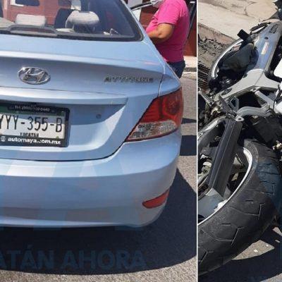 Trágico accidente en el centro de Mérida: muere un motociclista