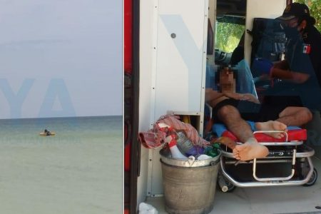 Susto para veraneantes de cuarentena en la costa yucateca