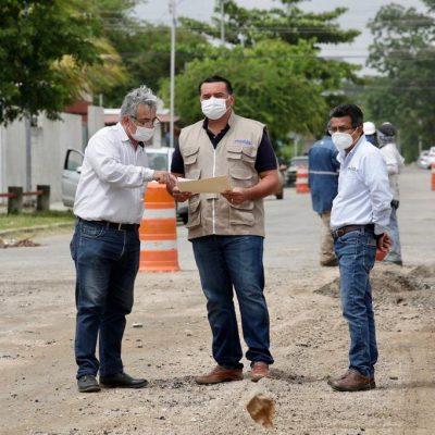 Intensa labor de cuadrillas municipales para rehabilitar calles dañadas por las lluvias