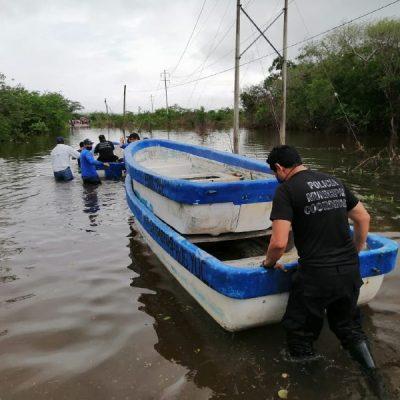 Pescadores yucatecos envían lanchas para rescatar gente en el Cono Sur
