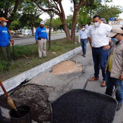 El Ayuntamiento intensifica el bacheo por daños de las recientes lluvias
