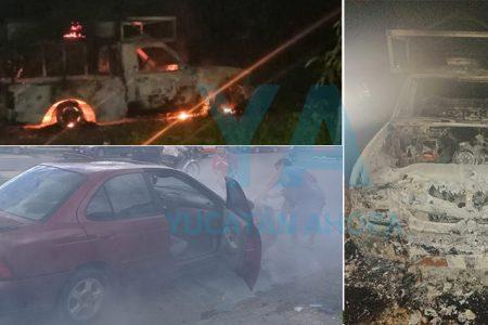 Se incendian sus autos por causas desconocidas