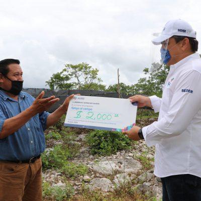 Llegan a Ixil los apoyos para el campo