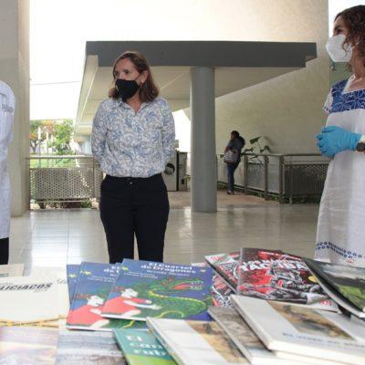 Sedeculta dona libros para pacientes del área Covid-19 del HRAEPY