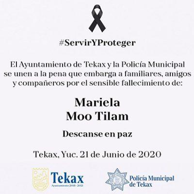 Fallece por Covid-19 primera mujer policía, en Tekax
