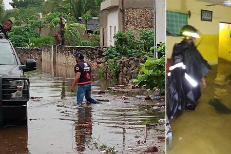 Casas con inundaciones de hasta un metro en Tecoh: evacuan a familias