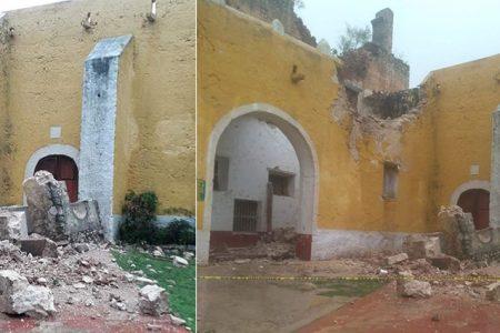 Se derrumba parte de la histórica iglesia de Tekantó