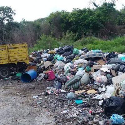 Lío por basurero clandestino entre Motul y Telchac Pueblo