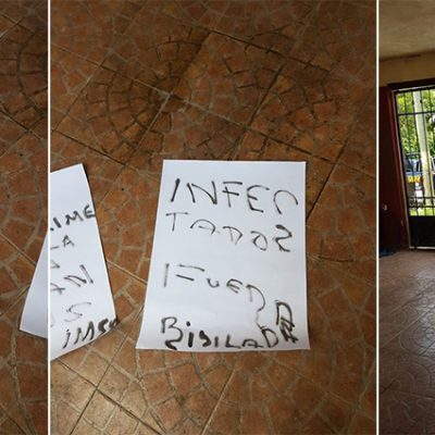 Con carteles amenazan de muerte a trabajadora del IMSS de Mérida