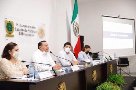 Comparece el alcalde Renán Barrera ante los diputados locales por un crédito