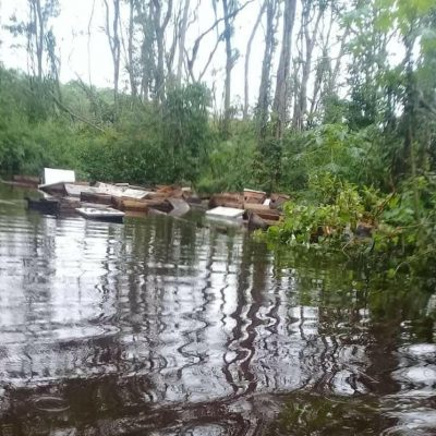 Cristóbal golpea también a los apicultores: colmenas bajo el agua