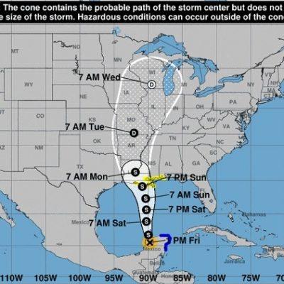 Cristóbal se fortalece en territorio yucateco: ya es tormenta tropical otra vez
