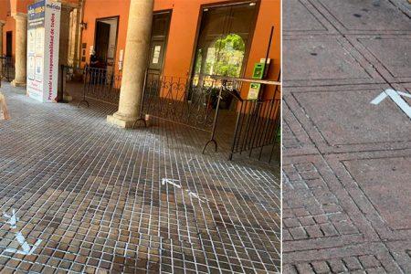 Con la nueva normalidad deberás caminar solo a la derecha en el centro de Mérida