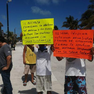 Piden al alcalde de Progreso que reabra el malecón a las actividades recreativas