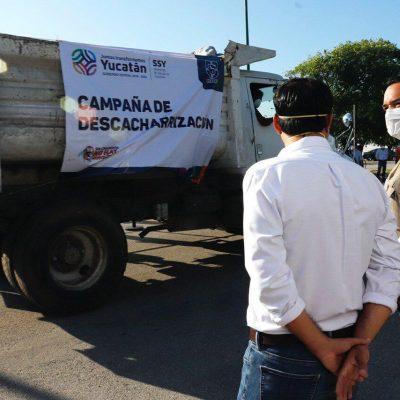 Banderazo a la campaña de descacharrización tras la tormenta tropical Cristóbal
