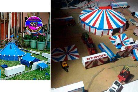 Hace en miniatura réplicas del Circo Chino de Pekín, Circo Unión y Fuentes Gasca