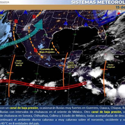 Conagua pronostica lunes con tormentas fuertes