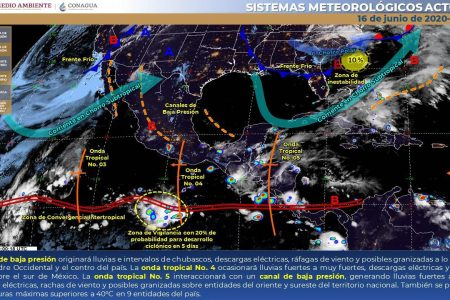 Nublados, tormentas y tiempo inestable por la activa onda tropical 5