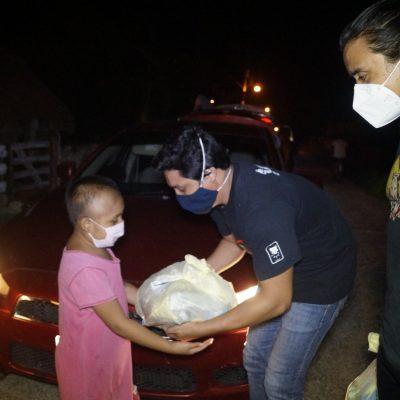 Fuertes de cuerpo, alma y corazón: llevan ayuda a familias afectadas por Covid-19 y las lluvias