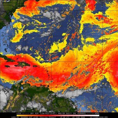 Llega a Yucatán el Polvo del Sahara: propiciará menos lluvia y más bochorno