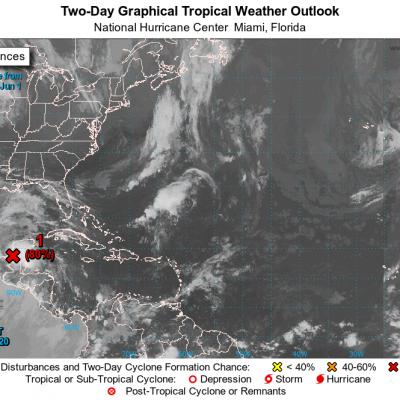 Remanentes de Amanda, en la Península de Yucatán: al salir al mar será otra vez ciclón