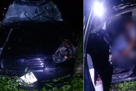 Fallece un hombre en estado de ebriedad al accidentarse con su auto
