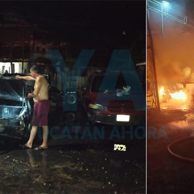 Pierde su auto al incendiarse por un cortocircuito