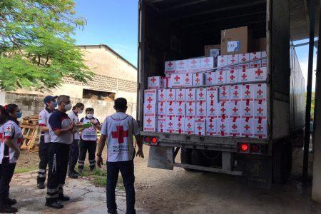 Llega a Yucatán ayuda humanitaria de Cruz Roja Mexicana