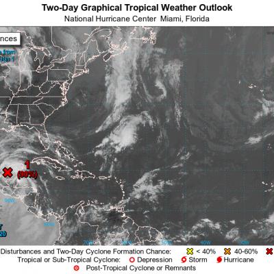 Inminente surgimiento de una depresión tropical en la Península de Yucatán