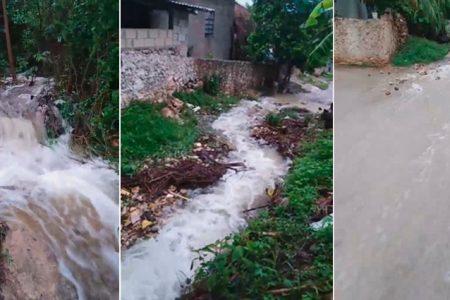 Hasta cascadas en el sur de Yucatán por exceso de lluvias