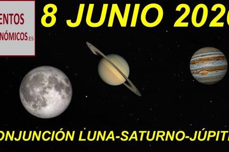 La Luna protagonizará triángulo amoroso con Júpiter y Saturno