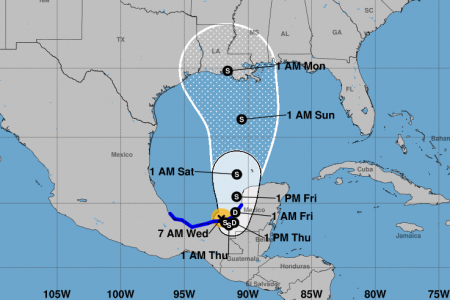 Próxima a tocar tierra la tormenta tropical Cristóbal