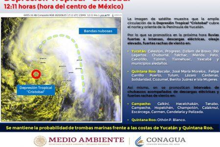 Cristóbal, cerca de entrar a Yucatán: se ubicaba a 31 km de Oxkutzcab