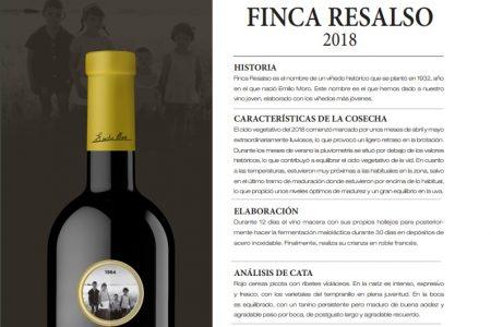 Presentan el Finca Resalso 2018, el vino más joven de Bodegas Emilio Moro