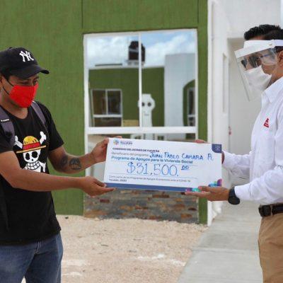 Con apoyos a la vivienda social, familias yucatecas ven realizado su sueño de contar con casa propia