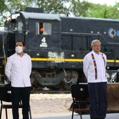 Hemos tocado fondo, sigue la reactivación económica con el Tren Maya: AMLO
