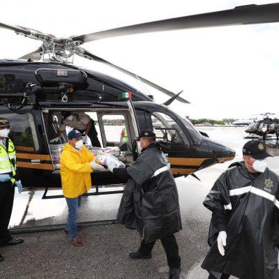 En auxilio de damnificados el helicóptero mejor equipado de Latinoamérica