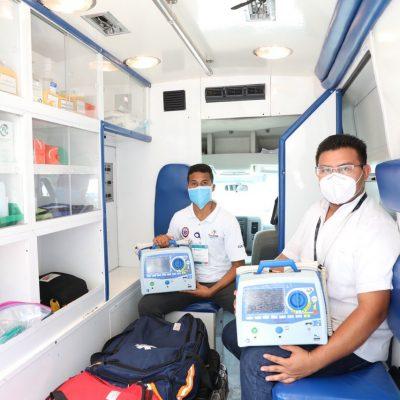 Ambulancias de Yucatán, bien equipadas contra el Covid-19