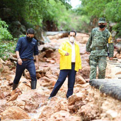 Intenso recorrido de Mauricio Vila por zonas que afectó 'Cristóbal'