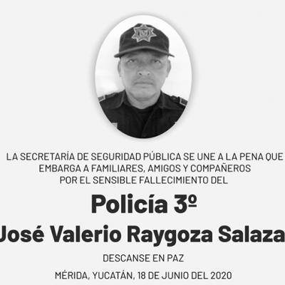 Fallecen otros dos policías en Yucatán a causa de la pandemia de Covid-19