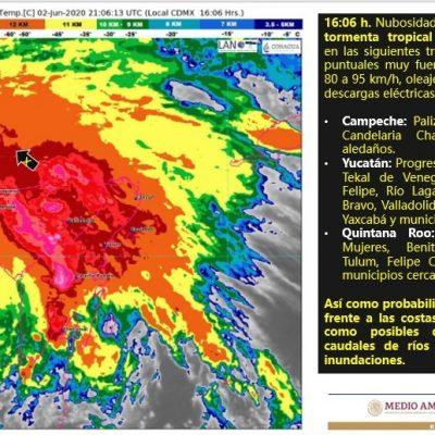 Vienen tres horas más de lluvia intensa para Mérida y otros municipios yucatecos