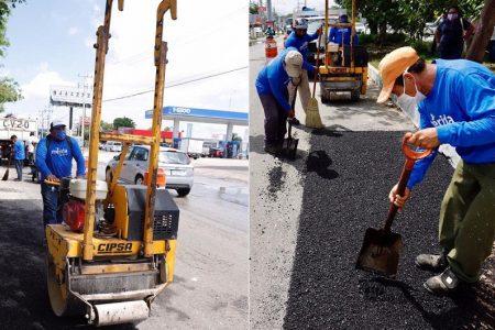 Cristóbal dañó 60 mil metros cuadrados de pavimento en calles de Mérida