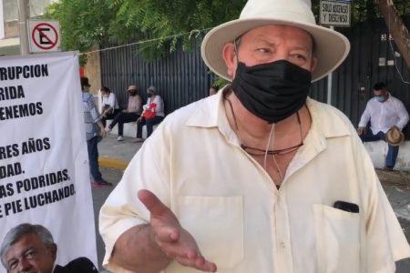 Protestan jubilados de Pemex: carecen de atención contra Covid-19 en Mérida