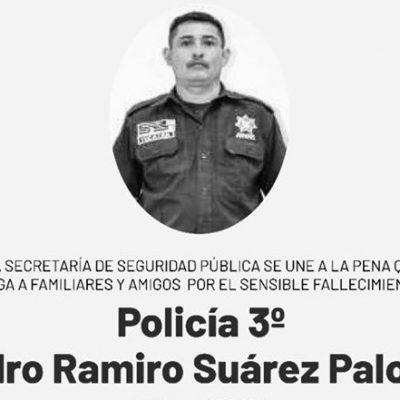 Fallece policía de la SSP con 18 años de servicio