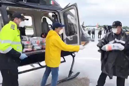 Mauricio Vila supervisa puente aéreo de ayuda al sur de Yucatán