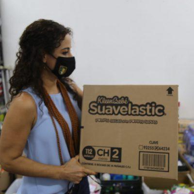 Centros de acopio del Gobierno del Estado recaudan 150 toneladas de donativos