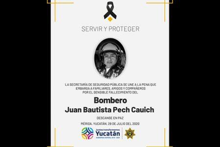 Fallece el segundo bombero de Yucatán por Covid-19