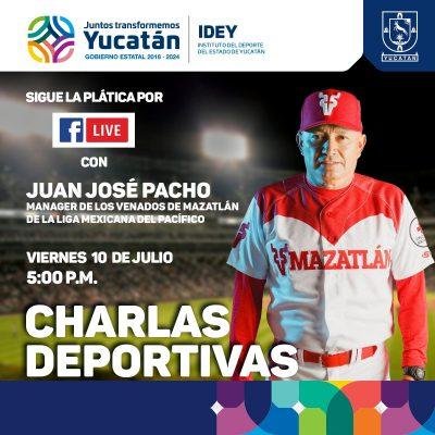 La charla con el IDEY será un turno al bate con Juan José Pacho