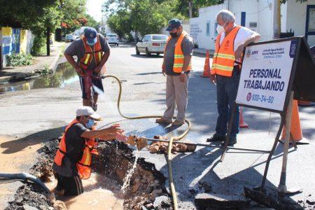 Evita la Japay el desperdicio de millón y medio de litros de agua en céntrica avenida